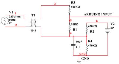 Circuit Diagram for Voltage Measurement